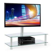 Electronic-Star Držiak na TV s policami z bezpečnostného skla