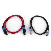 Malone Auna JO-Kabel-Kit, 1 x XLR kábel, 1 x PA kábel