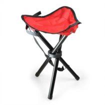DURAMAXX Duramaxx, Prenosná kempovacia stolička, rybárska, 500g, červeno-čierna