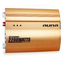 2-kanálový zosilňovač do auta Auna Goldhammer, 2200W, zlatá
