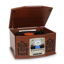 Stereo zariadenie Auna NR-620, stereo, MP3 záznam, hnedé