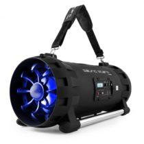 Auna Soundstorm Ghettoblaster, bluetooth, NFC, USB, akumulátor, čierno/modrý