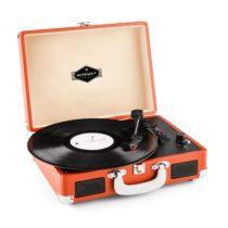 Auna Peggy Sue, retro gramofón, LP, USB, oranžový