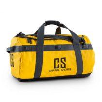 Capital Sports Travel M, cestovná taška, ruksak, 60 l, nepremokavý, žltý
