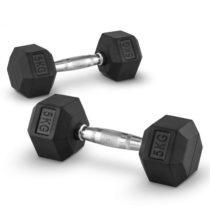 Capital Sports Hexbell 5, 5kg, dvojica krátkoručných činiek (dumbbell)