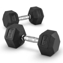 Capital Sports Hexbell 27.5 Dumbbell, pár jednoručných činiek, 27.5 kg