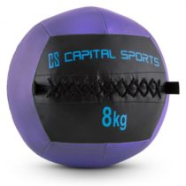 Capital Sports Wallball 8, 8kg, fialová, Wall Ball (medicinbal) z umelej kože