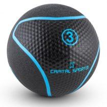 Capital Sports Medba 3, čierny, medicinbal 3kg guma