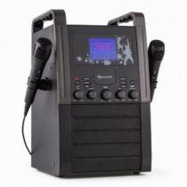 Auna KA8P-V2 BK, čierna, karaoke systém s CD prehrávačom, AUX, 2 mikrofóny