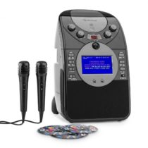 Auna ScreenStar, karaoke systém, kamera, CD, USB, SD, MP3, vrátane 2 mikrofónov, 3 x CD+G
