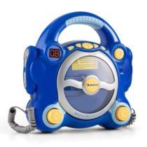 Auna Pocket Rocker, modrý, karaoke systém s CD prehrávačom, Sing A Long, 2 mikrofóny, batérie