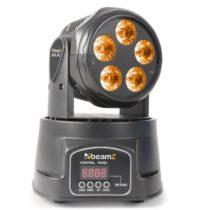 Beamz MHL90 Mini, otočná hlava, LED svetelný efekt, 5 x 18 W, RGBAW-UV, 6 v 1