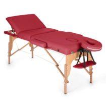 Klarfit MT 500, červený, masážny stôl, 210 cm, 200 kg, sklápací, jemný povrch, taška