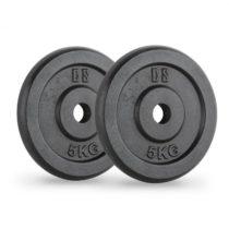 Capital Sports IPB 5, čierne, závažie na činky, pár, 30 mm, 5 kg