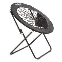 Klarfit Bounco, čierna, bungee stolička, 81 x 41/85 cm