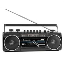 Auna Duke, retro boombox, prenosný magnetofón, USB, SD, bluetooth, FM rádio