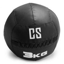 Capital Sports Bravor Wall Ball medicinbal PVC dvojité švy 3kg čierna farba