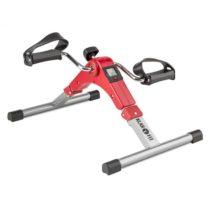 Klarfit Continus Pro Mini Bike, pedálový prístroj na cvičenie, displej, sklápací, červená farba