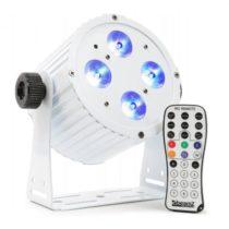 Beamz BAC404 ProPar 4x18W 6-1 HEX DMX IR biela farba