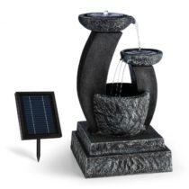 Blumfeldt Fantaghiro, záhradná fontána, solárny panel, 3 W, LED polyresín, vzhľad kameňa