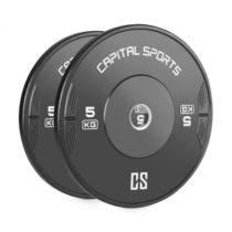 Capital Sports Elongate 5 Bumper Plate, činkový kotúč, guma, 2x5 kg