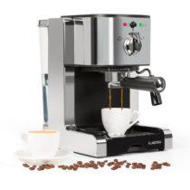 Klarstein Passionata 20 kávovar na výrobu espressa, 20 bar, cappuccino, mliečna pena, strieborná far...