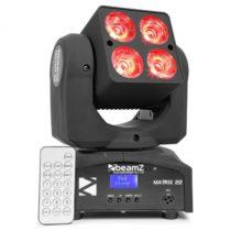 Beamz Matrix 22, 40 W, LED otočná hlava, pohyblivá hlavica, moving-head, 4 x 10 W, 9 vzorov, 7 farie...