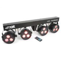 MAX LED PAR-Bar-Set 4-cestný kit 3x 4-v-1 LED RGBW vrátane T-baru a stojanu