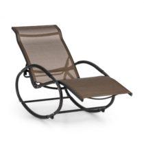 Blumfeldt Santorini, hojdacie kreslo, ležadlo, hliník, polyester, hnedé