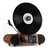 Auna Verticalo DAB retro gramofón, DAB+, FM tuner, USB, BT, AUX, budík