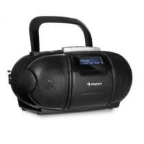 Auna BeeBoy DAB Boombox Ghettoblaster kazetový prehrávač, USB, CD, MP3, čierna farba