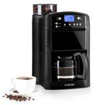 Klarstein Aromatica kávovar, mlynček, 10 šálok, sklená kanvica, aróma+, čierna farba