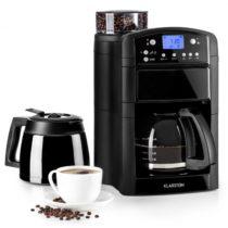 Klarstein Aromatica Set kávovar, mlynček, sklená kanvica/termoska, čierna farba