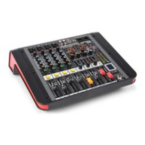 Power Dynamics PDM-M404A, mixážny pult, 4 mikrofónové vstupy, 24-bit multi-FX-procesor , USB prehráv...