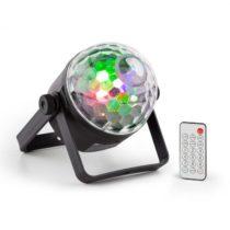 Beamz PLS35 DJ Jellyball, 4 x 3 W červené, zelené, modré a UV LED diódy, DMX alebo samostatná prevád...