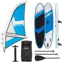Klarfit Spreestar WL, nafukovací paddleboard, SUP-Board-Set, 300x10x71, modro-biela farba