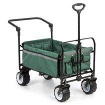 Waldbeck Easy Rider, ťahací vozík, do 70 kg, teleskopická tyč, sklopný, zelený