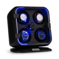 Klarstein Clover, naťahovač na hodinky, 4 hodiniek, 3 otáčania, 4 rýchlosti, modré LED osvetlenie, p...