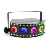 Beamz DJ X5 Array, 5x 10W 4in1, 30x SMD RGB DMX alebo Standalone, čierna farba