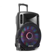 "Fenton FT15LED, aktívny reproduktor, 15"", 800 W, BT/USB/SD/MP3/AUX-In, LED, mirkofón, vozík..."