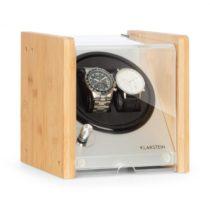 Klarstein Hanoi 2, naťahovač na hodinky, 2 hodiniek, 3 rýchlosti, 4 režimy, bambus