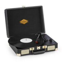 Auna Peggy Sue, gramofón, stereo reproduktor, USB pripojenie, čierna/zlatá