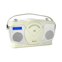 Auna RCD-70 DAB, retro CD rádio, FM, DAB+, CD prehrávač, USB, bluetooth, krémové