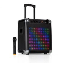 "Auna Moving 80.2 LED, PA systém, 8"" woofer, 100 W max., VHF mikrofón, USB, SD, BT, AUX, pre..."
