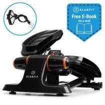 Klarfit Galaxy Step, mini stepper, prémiové nášlapné plochy, LCD displej, čierny/oranžový