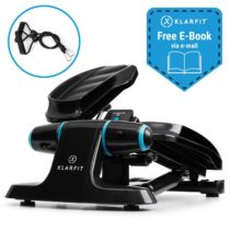 Klarfit Galaxy Step, mini stepper, prémiové nášlapné plochy, LCD displej, čierny/modrý