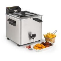 Klarstein Family Fry, fritéza, 3000 W, technológia Oil Drain, ušľachtilá oceľ, strieborná