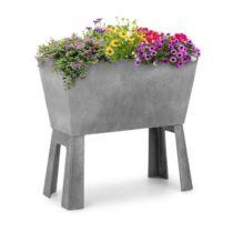 Blumfeldt Mammutgrow Flex, vyvýšený záhon, 75 x 70 x 35 cm, UV ochrana a ochrana pred mrazom, sivý