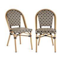 Blumfeldt Montbazin BL, bistro stolička, možnosť ukladať stoličky na seba, hliníkový rám, polyratan,...