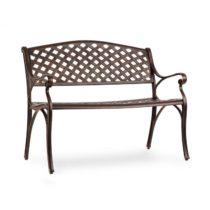 Blumfeldt Pozzilli AN, záhradná lavička, liaty hliník, odolná voči počasiu, starožitná meď